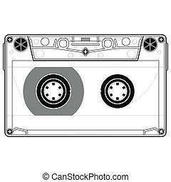 Tape cassette - Precise copy of a tape cassette in vector