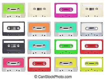 Tape cassette - Set of magnetic tape cassette for audio ...
