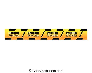 tape dont cross precaution