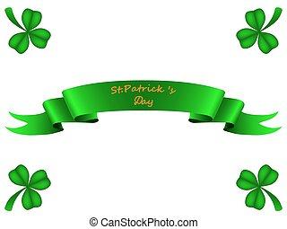 Tape greeting card St. Patrick
