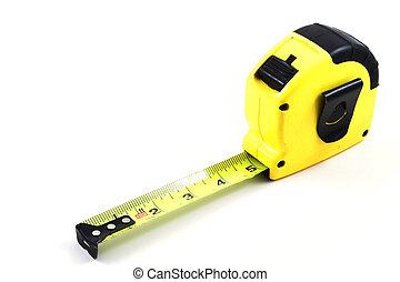Tape Measure - A standard carpenter\\\'s tape measure ready...