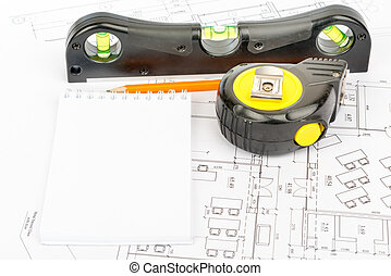Tape measure and pad