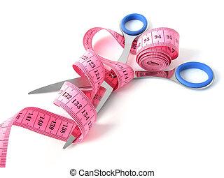 tape-measure and scissors