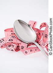 tape-measure and spoon