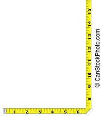 Tape Measure Border - A page border created from a rag tape...