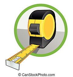 Tape measure - Vector of a tape measure on white background