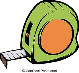 Tape measure icon cartoon