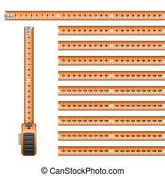 Tape Measure - Measuring Graphic Design Orange Roulette...