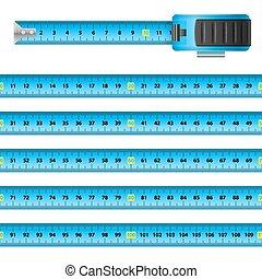 Tape Measure - Measuring Graphic Design Blue Centimeter...