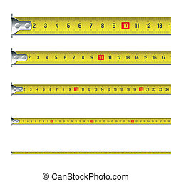 Vector illustration of a tape measure in centimeters