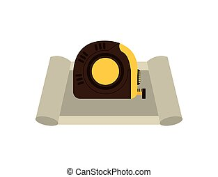 tape measure isolated icon design