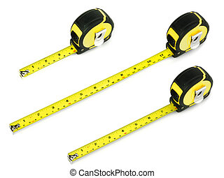 tape measure on a white background