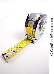 tape measure - a common construction or home tape measure