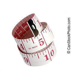 Tape Measure - Pink Tape Measure Isolated On A White...