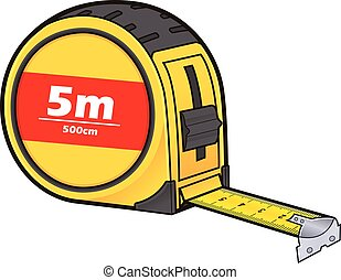 Tape measure - Vector cartoon clipart picture of a tape ...