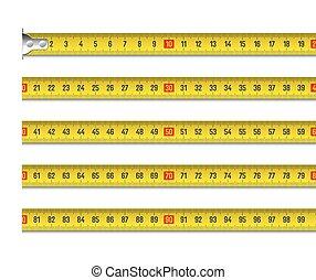 Tape measure vector illustration in centimeters