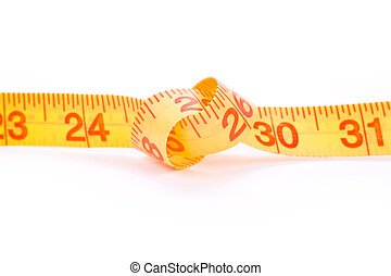 Tape Measure with white background