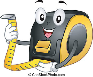 Tape Meter Mascot - Mascot Illustration Featuring a Tape ...