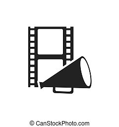 tape record with cinematographic icon vector illustration design