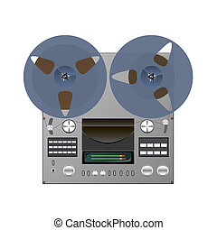 Tape recorder - Reel tape recorder is shown in the image.
