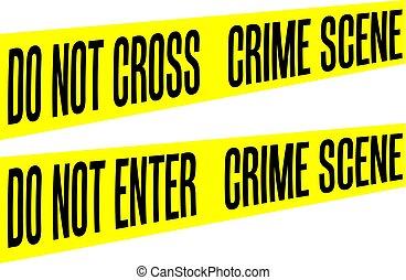 Tape Yellow Barrier Crime scene do not enter or cross ...