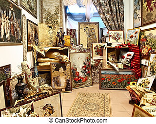 tapestry room in store - Photo of the tapestry pictures room...