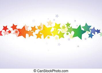 tapet, farverig, stjerner