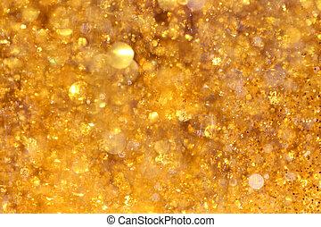 tapet, gul, guld, abstrakt, bokeh, eller, lyse, glitter, stickande, bakgrund, glödande
