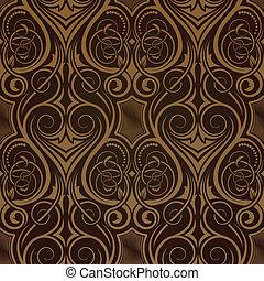 tapet, seamless, brun