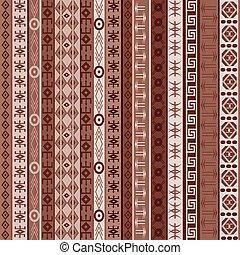 tapete, marrom, elementos, africano
