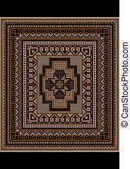 tapete, marrom, original, tom, padrão