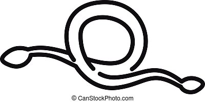 Tapeworm icon. Outline tapeworm vector icon for web design isolated on white background
