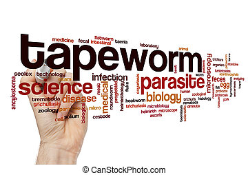 Tapeworm word cloud