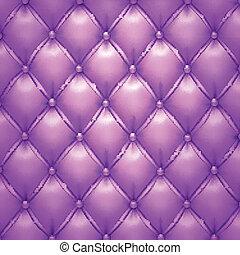tapicería, púrpura, patrón, fondo., vector, cuero