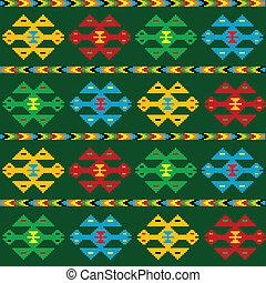 tapijt, groene, motieven, ethnische