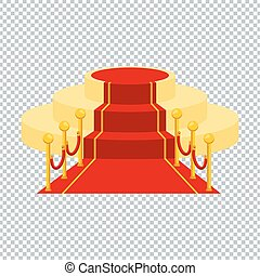 tapijt, transparant, rood, ackground