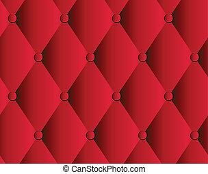 tapisserie ameublement cuir, fond, vecteur, rouges