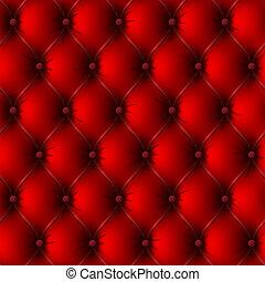 tapisserie ameublement cuir, vieux, rouges