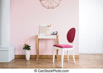 tapizado, tabla, silla, aliño