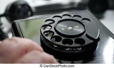 tapotement, rotatif, doigt, téléphone, vendange