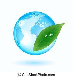 tappa av bevattnar, med, grön leaf