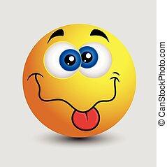 taquiner, langue, muet, emoji