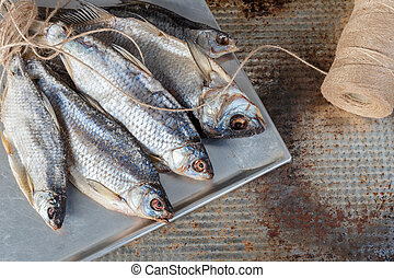 Taranka, Sun Dried Salty River Fish, Classic Beer Snack in Post Soviet Countries