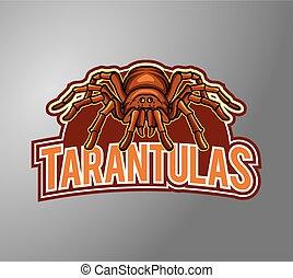 Tarantula Illustration Design symbol