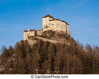 Tarasp castle in Swiss Alps - Tarasp Castle - fortified...