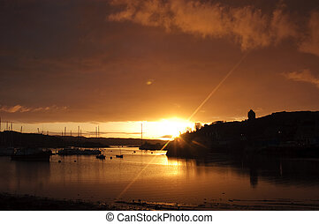 Tarbert harbor in the morning