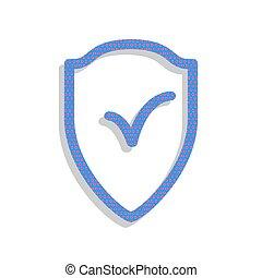 tarcza, znak, jak, ochrona, i, ubezpieczenie, symbol.,...