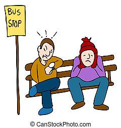 tard, autobus