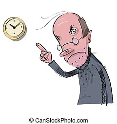 tard, vecteur, travail, illustration