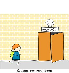 tarde, escola
